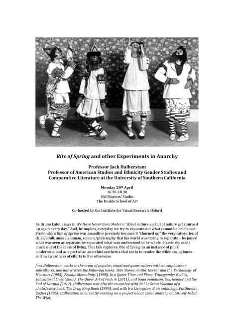 Halberstam Lecture 28 April