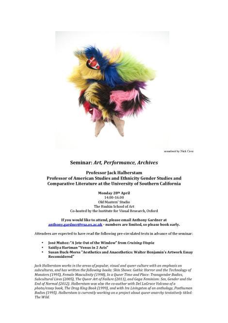 Halberstam Seminar 28 April